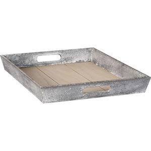 Holz-Tablett grau in Betonlook