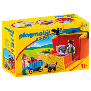 PLAYMOBIL® 1.2.3 Mein Marktstand zum Mitnehmen 9123