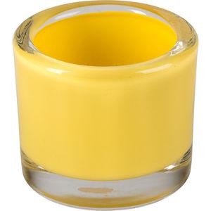 Windlicht Glas 5,7cm, gelb