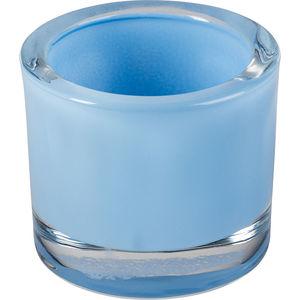 Windlicht Glas 5,7cm, himmelblau
