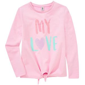 Mädchen Sweatshirt mit Glitzer-Print