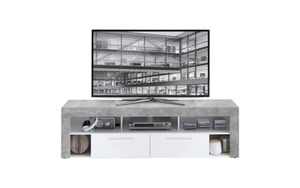 HARDi - TV-Lowboard Vibio 2 weiß / Betonoptik