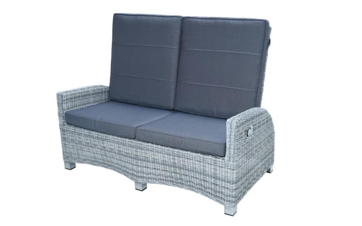 Bild 1 von Ploß & Co. - Garten-Loungesofa Petrana in grau-weiß, meliert