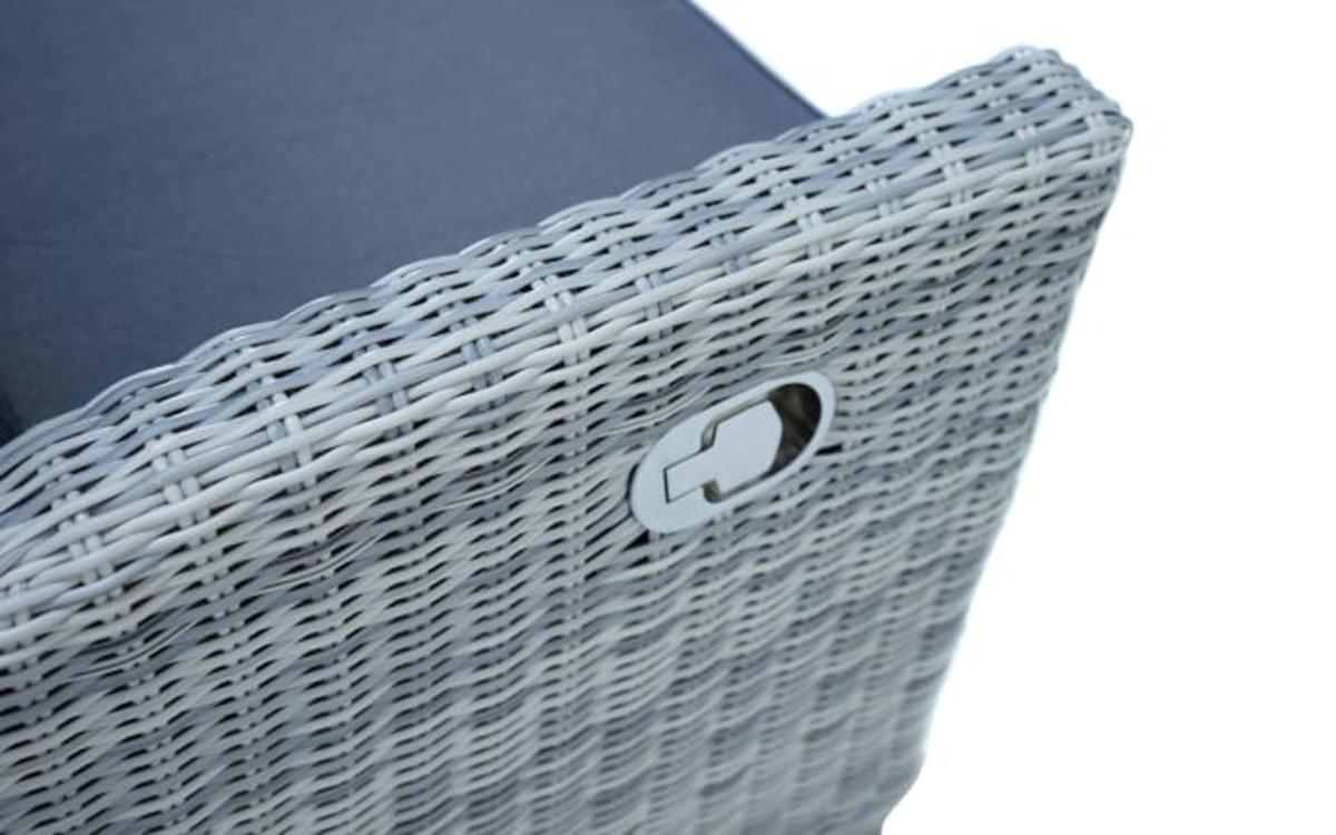 Bild 2 von Ploß & Co. - Garten-Loungesofa Petrana in grau-weiß, meliert