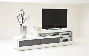 HARDi - TV-Lowboard Celia in weiß/grau