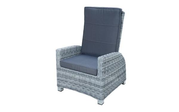 Ploß & Co. - Garten-Loungesessel Petrana in grau-weiß, meliert