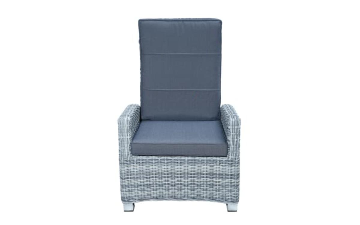 Bild 2 von Ploß & Co. - Garten-Loungesessel Petrana in grau-weiß, meliert
