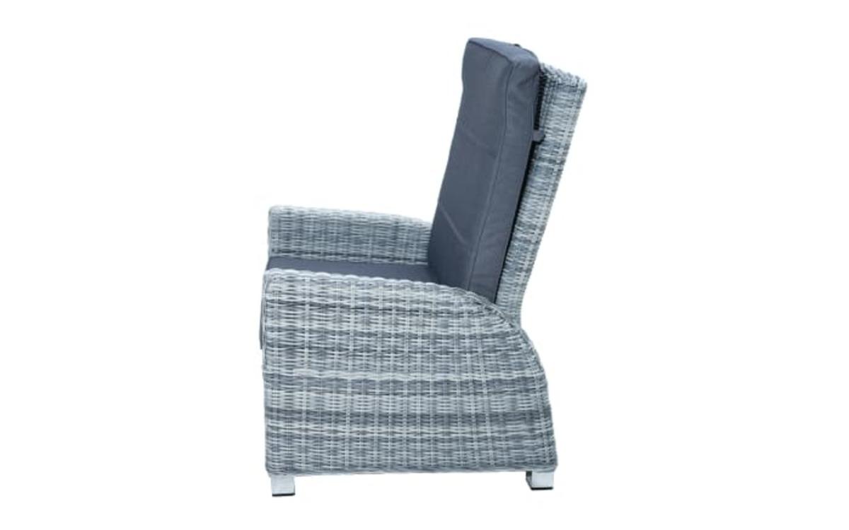 Bild 3 von Ploß & Co. - Garten-Loungesessel Petrana in grau-weiß, meliert