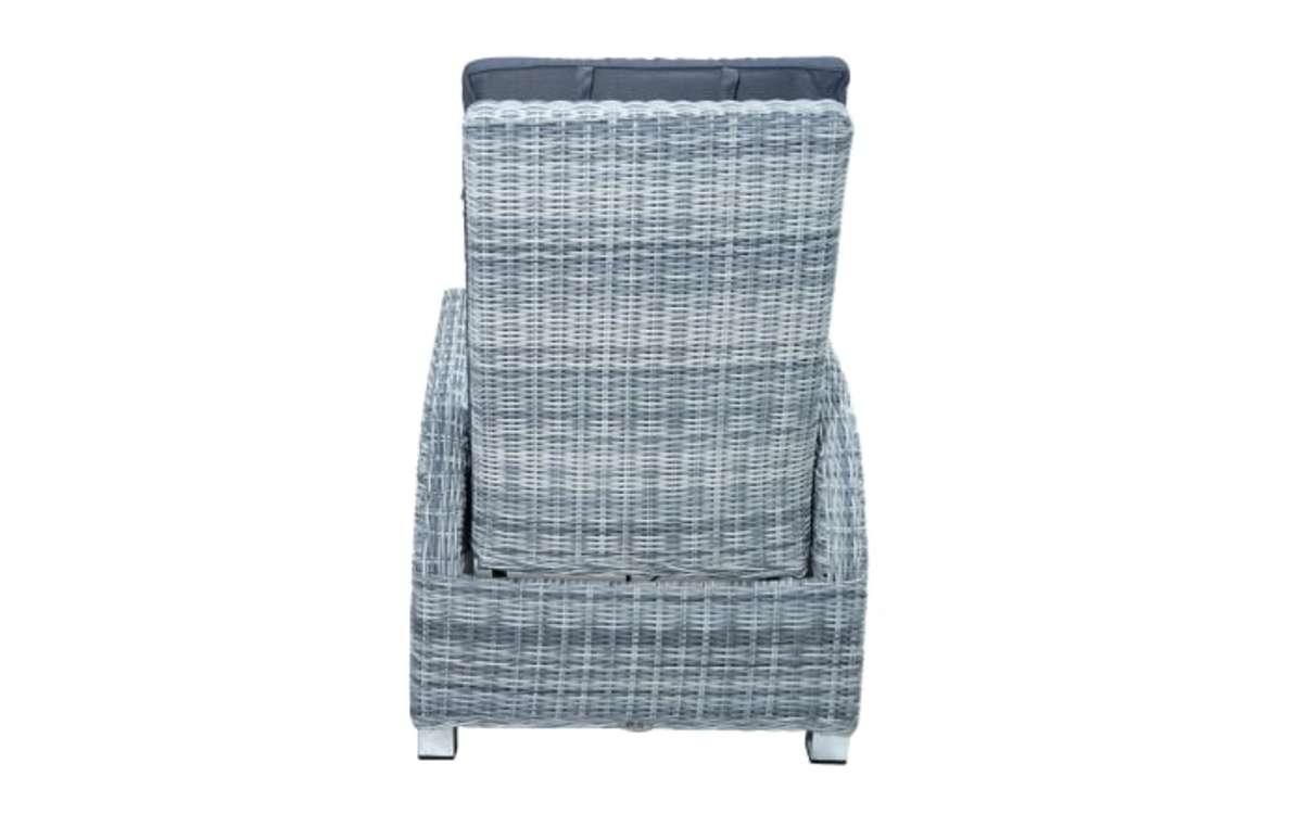 Bild 4 von Ploß & Co. - Garten-Loungesessel Petrana in grau-weiß, meliert