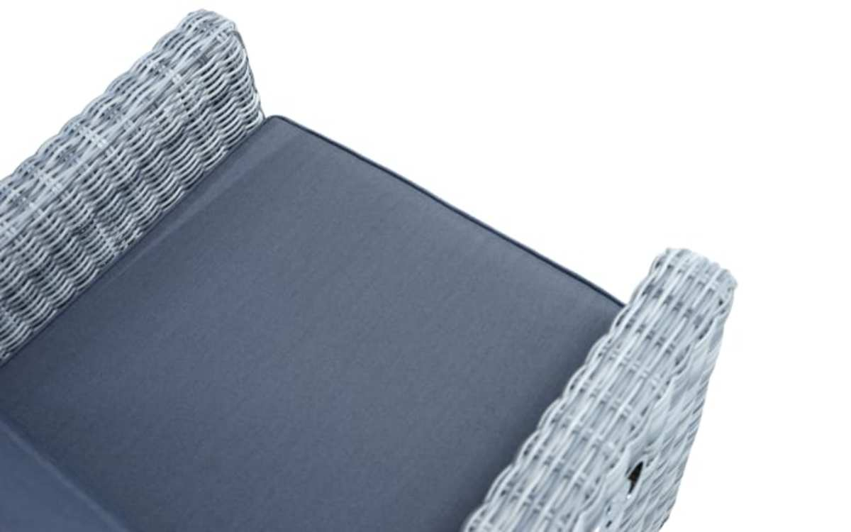 Bild 5 von Ploß & Co. - Garten-Loungesessel Petrana in grau-weiß, meliert