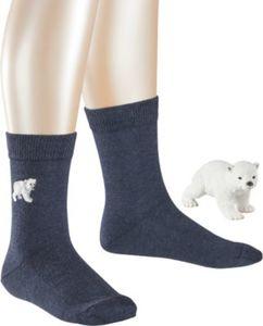 Set aus Socken und Schleich Eisbär Gr. 31-34 Jungen Kinder