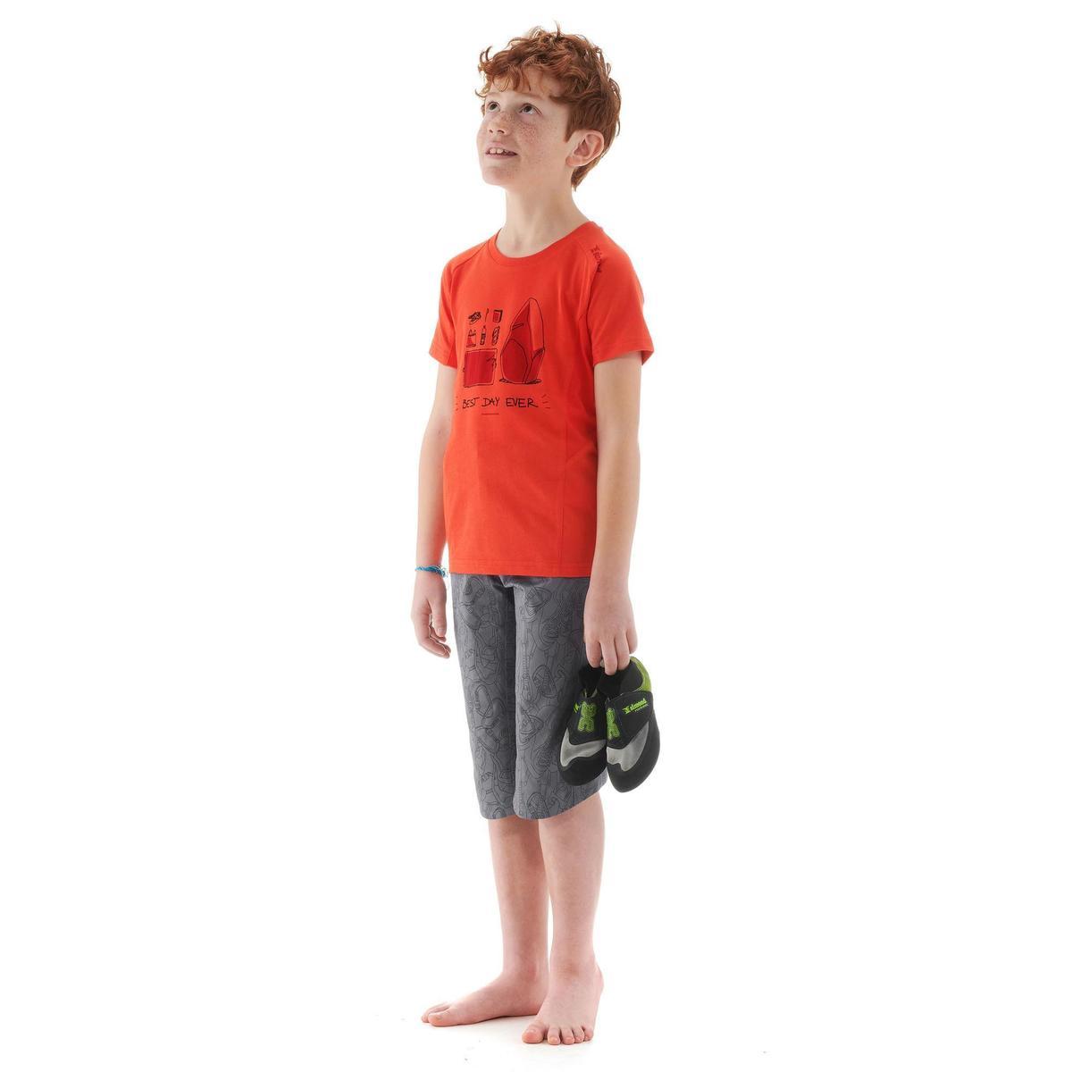 Bild 2 von Kletter-T-Shirt Kinder Kurzarm rot