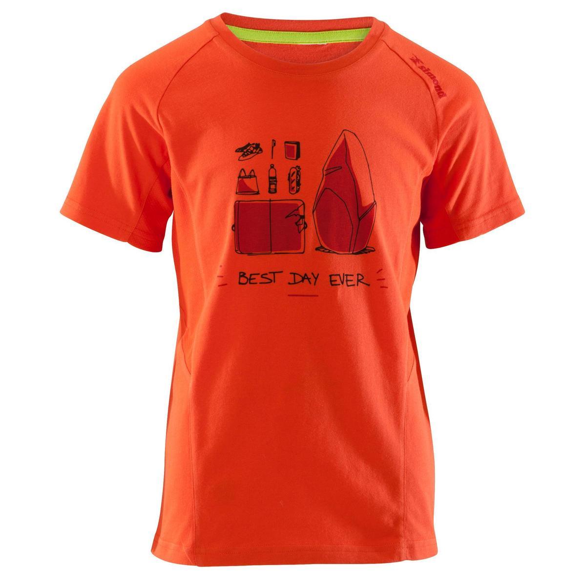 Bild 3 von Kletter-T-Shirt Kinder Kurzarm rot