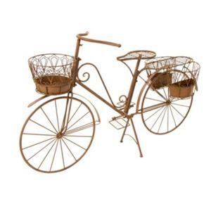 Deko-Fahrrad mit Pflanzhalter Rusty Braun