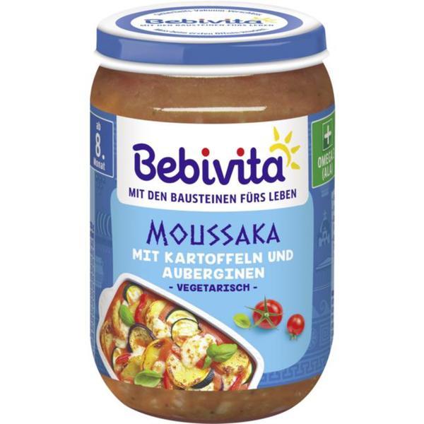 Bebivita Moussaka mit Kartoffeln und Auberginen 0.45 EUR/100 g (6 x 220.00g)