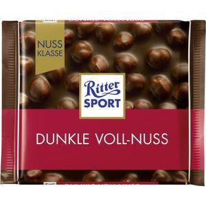 Ritter Sport Dunkle Voll-Nuss Tafelschokolade