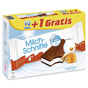Milch-Schnitte jede 10 + 1 x 28 g = 308-g-Aktionspackung