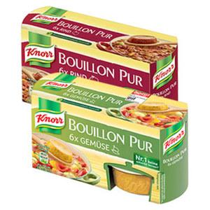 Knorr Bouillon Pur 6er oder Sauce Pur 4er versch. Sorten, jede Packung