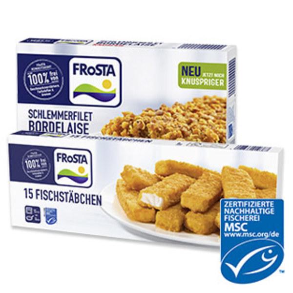 Frosta Schlemmerfilet oder Fischstäbchen gefroren, jede 360/450-g-Packung und weitere Sorten