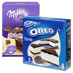 Oreo Torte oder Milka Schokokuchen Backmischung und weitere Sorten,   jede 215/230-g-Packung
