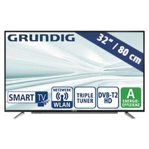 """32""""-FullHD-LED-TV 32 GFB 600 HbbTV, 3 HDMI-/2 USB-Anschlüsse, CI+, 800-Hertz-Technik, Stand-by: 0,3 Watt, Betrieb: 40,1 Watt, Maße: H 44,3 x B 73,5 x T 7,6 cm, Energie-Effizienz A (Spektrum A++ b"""