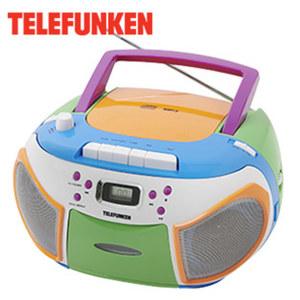 Kinder MP3-CD-Radio RC1013KM CD-Player, Kassettendeck, analoger FM-Tuner, Aux-Anschluss, Netz- oder Batteriebetrieb