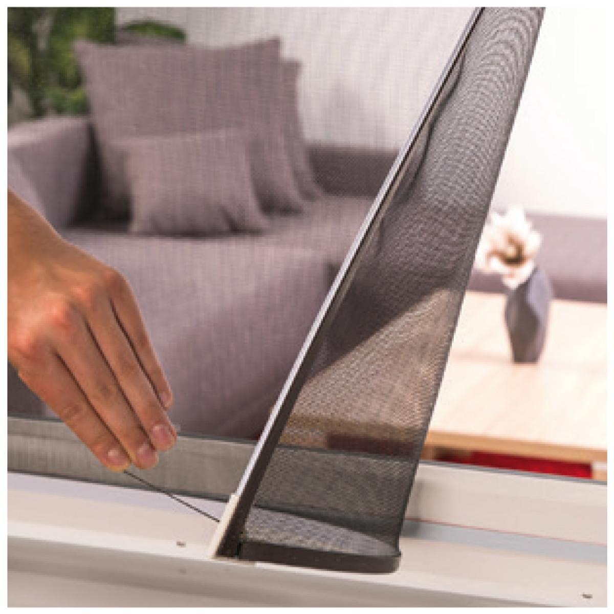 Bild 2 von Hecht Magnet Insektenschutzfenster EASY 100x120 cm weiß