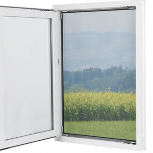 EASYmaxx Fliegengitter, ca. 150 x 130 cm, schwarz - 2er-Set