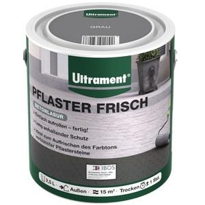 Ultrament Pflasterfarbe Pflaster Frisch 2,5 Liter grau