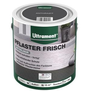 Ultrament Pflasterfarbe Pflaster Frisch 2,5 Liter anthrazit