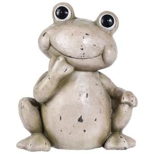 Gartendekoration Frosch 31,5 x 18,5 x 37 cm aus Keramik