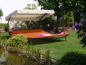 Solax Sunshine Doppel-Gartenliege, Terracotta