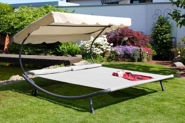 Solax Sunshine Doppel-Gartenliege, Beige