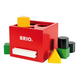 BRIO Rote Sortier-Box, 7-tlg., Sortierspiel, Steckspiel, Holzspielzeug, Holz Spielzeug, 30148