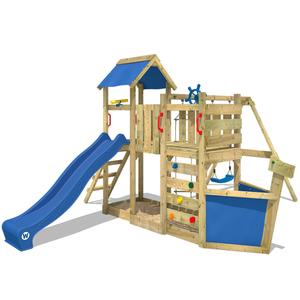 Spielturm WICKEY OceanFlyer Garten Kinder Kletterturm Stelzenhaus Outdoor Garten Klettergerüst