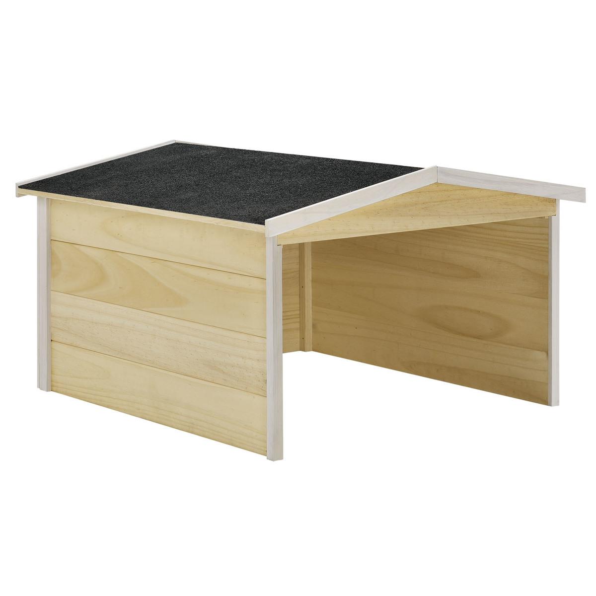 Bild 1 von Juskys Mähroboter-Garage M aus Holz mit wetterfestem Bitumensatteldach