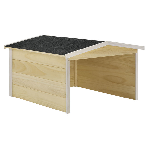 Juskys Mähroboter-Garage M aus Holz mit wetterfestem Bitumensatteldach