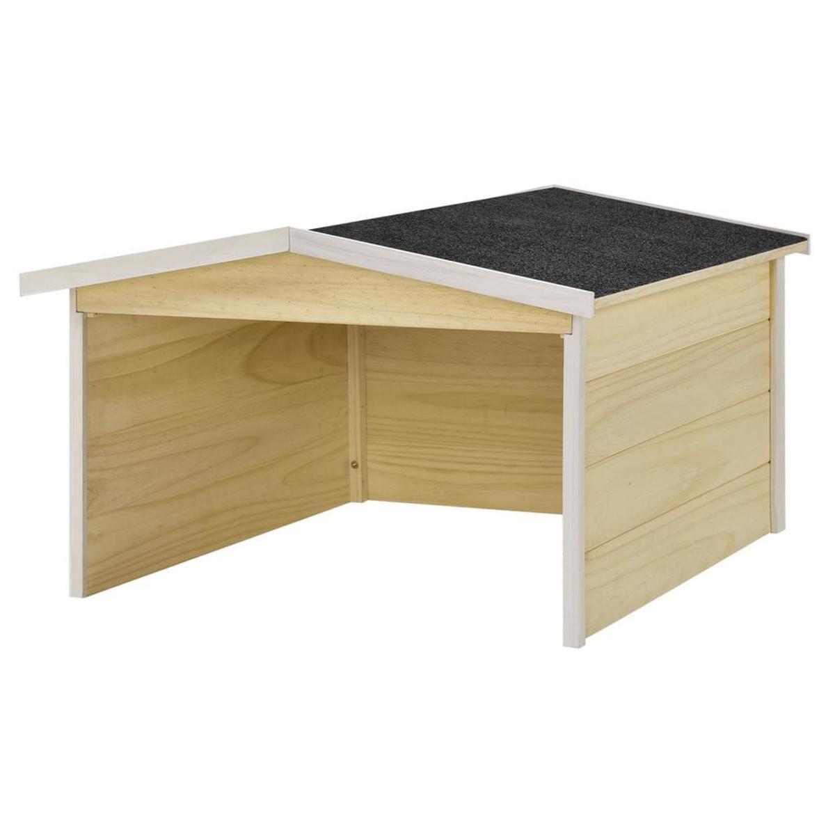 Bild 2 von Juskys Mähroboter-Garage M aus Holz mit wetterfestem Bitumensatteldach