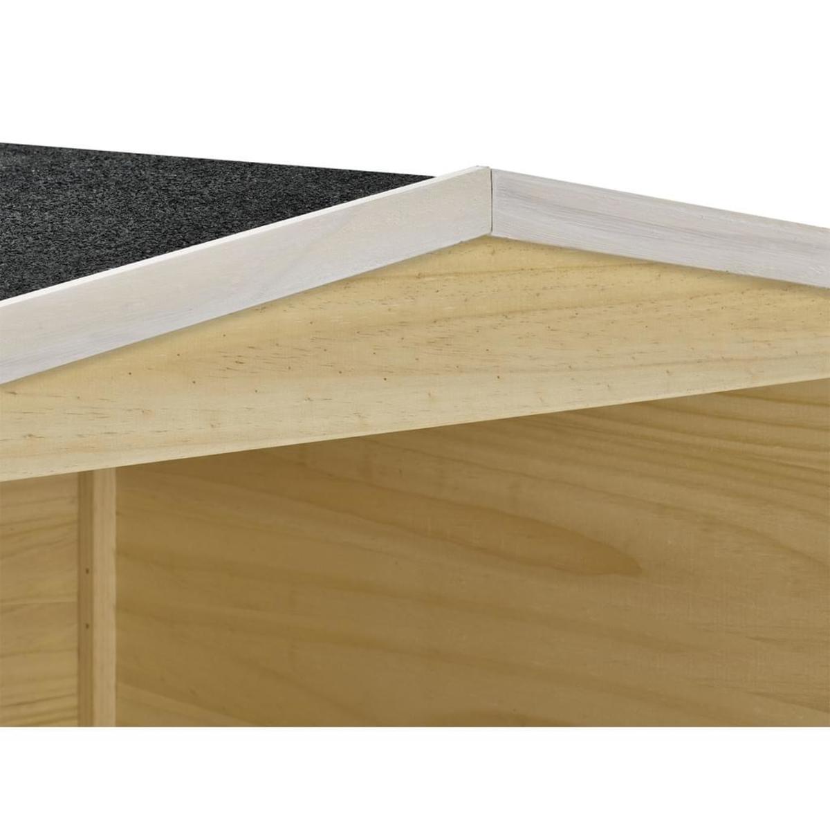 Bild 4 von Juskys Mähroboter-Garage M aus Holz mit wetterfestem Bitumensatteldach