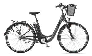 Telefunken E-Bike Damen 28 Zoll Elektrofahrrad - Rücktritt & 3-Gang Shimano Nabenschaltung, Pedelec Citybike Alu mit Fahrradkorb, 250W und 10Ah, 36V Sitzrohrakku, RC745 Multitalent