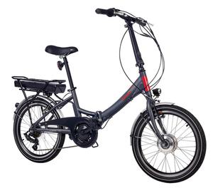 Telefunken E-Bike Klapprad Elektrofahrrad Alu, Grau, 7 Gang Shimano Kettenschaltung - Pedelec Faltrad Leicht, 250W und 10,4 Ah/36V Lithium-Ionen-Akku, LCD-Display, Reifengröße: 20 Zoll, Kompakt F80