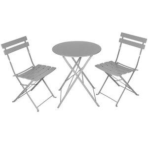 Vanage Balkon-Set Balkonmöbel Gartenmöbel Set Bistrotisch mit 2 Stühlen | klappbar | 3tlg