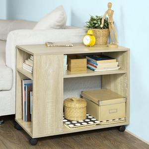 SoBuy® Rolltisch,Beistelltisch,Zeitungsständer,Couchtisch,mit Rollen, FBT34-N
