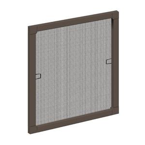Schellenberg Insektenschutz-Fenster mit Aluminium-Rahmen 100 x 120 cm, Farbe Braun