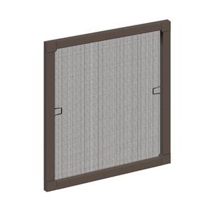 Schellenberg Insektenschutz-Fenster mit Aluminium-Rahmen 120 x 140 cm, Farbe Braun