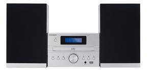 Thomson MIC122DABBT, Heim-Audio-Mikrosystem, Silber, Einfarbig, 1 Deck(s), 50 W, DAB+,FM