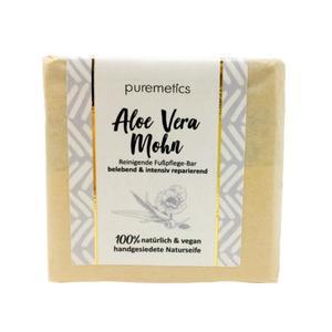 puremetics Naturseife Fuss-Bar Aloe Vera Mohn