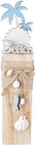 Standdeko - Muschel - aus Holz - 7 x 6 x 35 cm