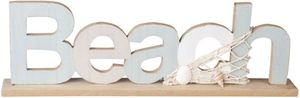 Deko-Schriftzug - Beach - aus Holz - 35 x 4 x 11 cm