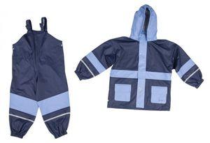 Regenanzug Basic Gr.80 - marine-hellblau